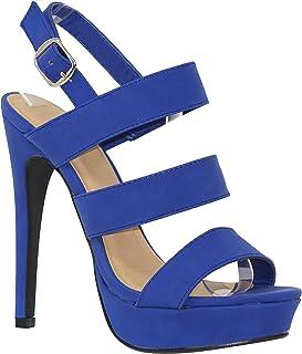 MVE Shoes Women's Platform Lace up Heels