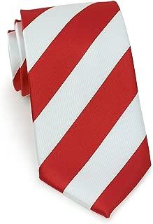 Bows-N-Ties Men's Necktie Wide Striped Microfiber Satin Tie 3.25 Inches