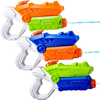 JOYIN 3 Pack Kids Water Guns Super Water Pistol Blaster Toy Water Soaker Squirt Guns for Kids Summer Swimming Pool Beach Sand Outdoor Water Activity Fighting Play Toys