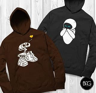 Wall-e and Eve Shirts Disney Couples Hoodies Wall-e Custom Matching hoodies Couple T-shirts vacation shirts