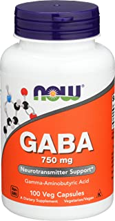 Now Foods GABA, 750mg, Veg Capsules, 100ct