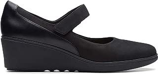 Clarks Un Tallara Ivy, Women's Women Pumps, Black (Black Nubuck Leather Combi), 4 UK (37 EU)