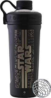 BlenderBottle Star Wars Radian Shaker Cup Insulated Stainless Steel Water Bottle with Wire Whisk, 26-Ounce, Trench
