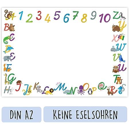 25 Blatt die Mal- und Schreibunterlage f/ür M/ädchen und Jungs Schreibtischunterlage aus Papier f/ür Kinder 48,5cm x 33,5cm Gr/ö/ße XL Back to School