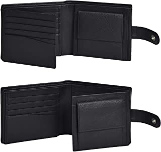 Amazon Brand - Eono Geniuine Leather Wallet with RFID for Men-Coin comparment Multi Credit Card Slim Wallets