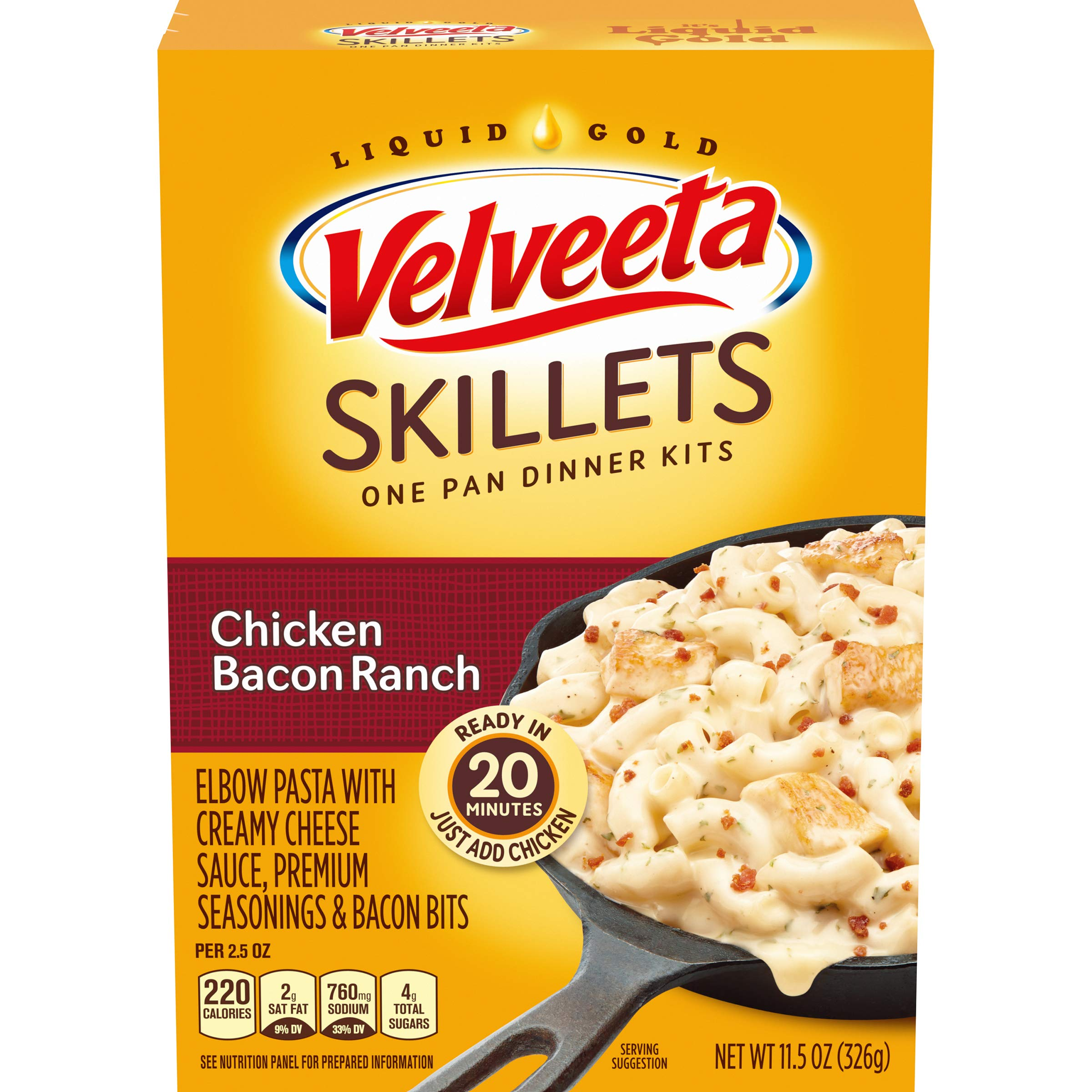 Velveeta Cheesy Skillets Chicken Bacon Ranch Meal Kit (11.5 oz Box)