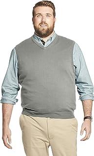 IZOD Men's Big and Tall Premium Essentials Solid V-Neck 12 Gauge Sweater Vest