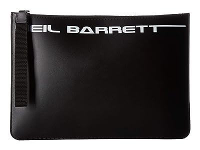 Neil Barrett Made in Neil Barrett Pouch (Black/White) Briefcase Bags