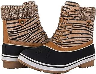 Women's 1632 Black Grey Snow Boots