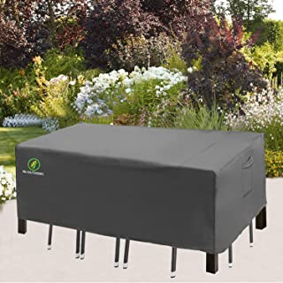 Patio Table and Chair Covers, Outdoor Furniture Cover with Handles and Durable Hem Cord 600D Durable Waterproof UV Resista...