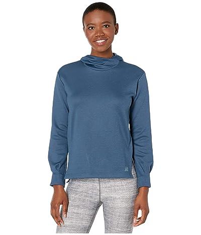New Balance Q Speed Run Crew Sweatshirt (Stone Blue Heather) Women