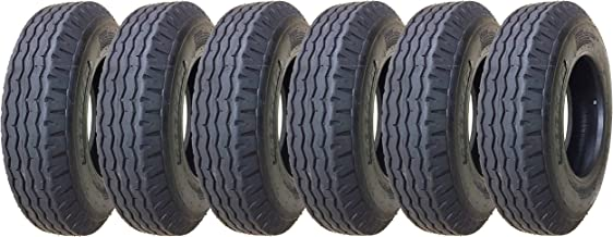 6 Zeemax Heavy Duty Highway Trailer Tires 8-14.5 14PR Load Range G- 11067