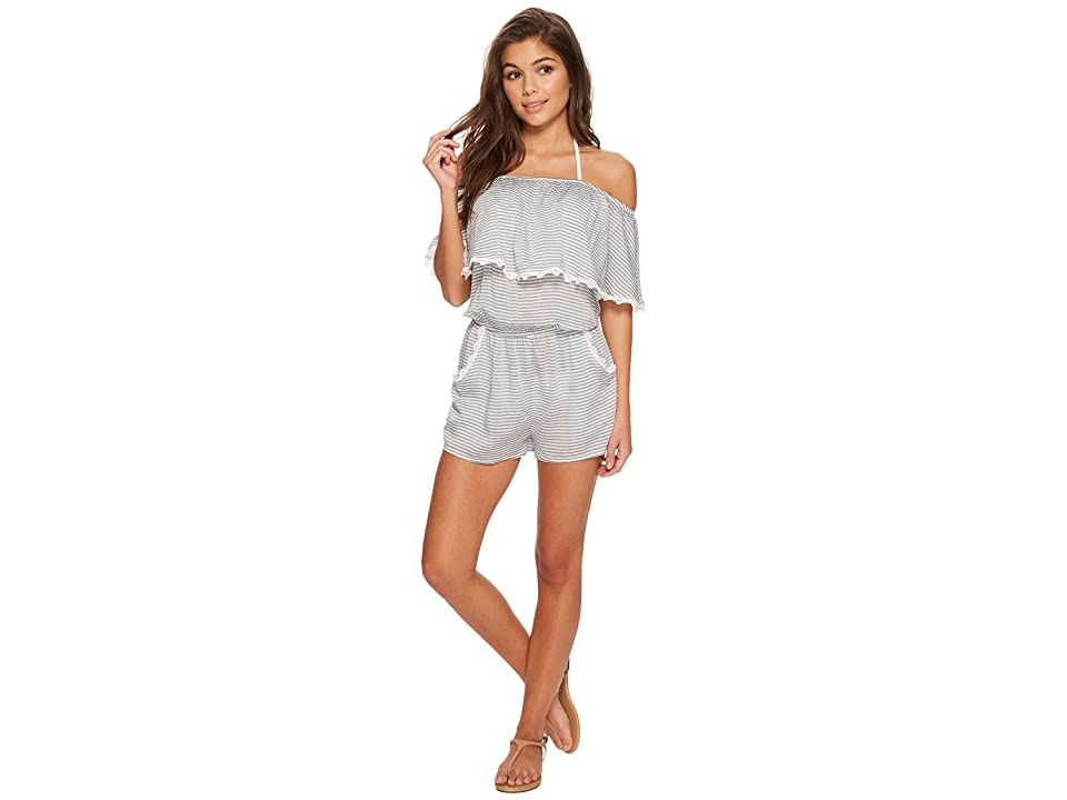 BECCA by Rebecca Virtue Nantucket Romper Cover-Up (Indigo/White) Women
