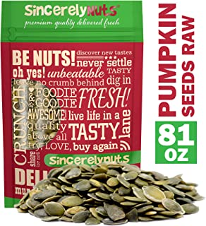 Sincerely Nuts - Raw Shelled Pepitas Pumpkin Seeds (Unsalted) (5lb bag) | All Natural Snack Food for Eating or Cooking | V...