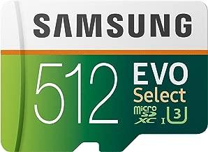 Samsung 512GB 100MB/s (U3) MicroSDXC Evo Select Memory...