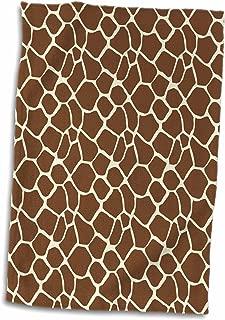 3D Rose Brown Giraffe Print TWL_202378_1 Towel, 15