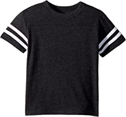 Extra Soft Crew Neck Tee w/ Vintage Jersey Strappings (Toddler/Little Kids)