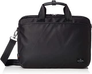 [マジェスティック ミル] ビジネスバッグ 2WAY(手提げ・ショルダー/キャリー通し付き) ブリーフケース 防水カサ袋付属 MMB0001