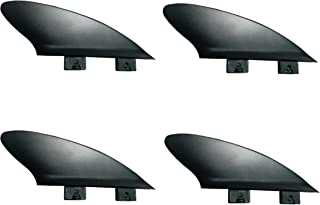 "2 "" Flexy Tip Fin Stabilizer for Shortboard to SUP、最小Flexの川とサーフ2タブミニボックス+ FCS互換"