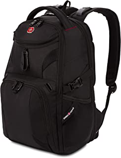 SWISSGEAR 1900 ScanSmart Mini/Slim Version Laptop Backpack | Fits Most 13 Inch Laptops and Tablets | TSA Friendly Backpack | Ideal for Work, Travel, School, College, and Commuting - Black