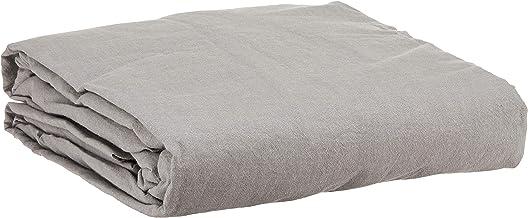 Muji Washed Cotton Fitted Sheet, King Size, 180 x 200 x 18-28cm, Grey