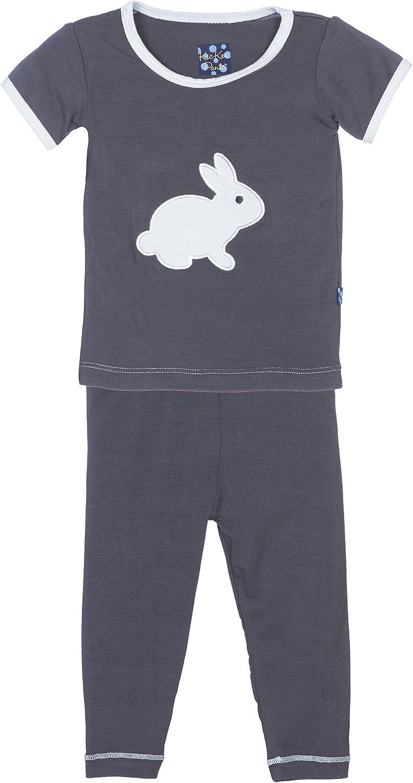 KicKee Pants Baby Applique Short Sleeve Pajama Set