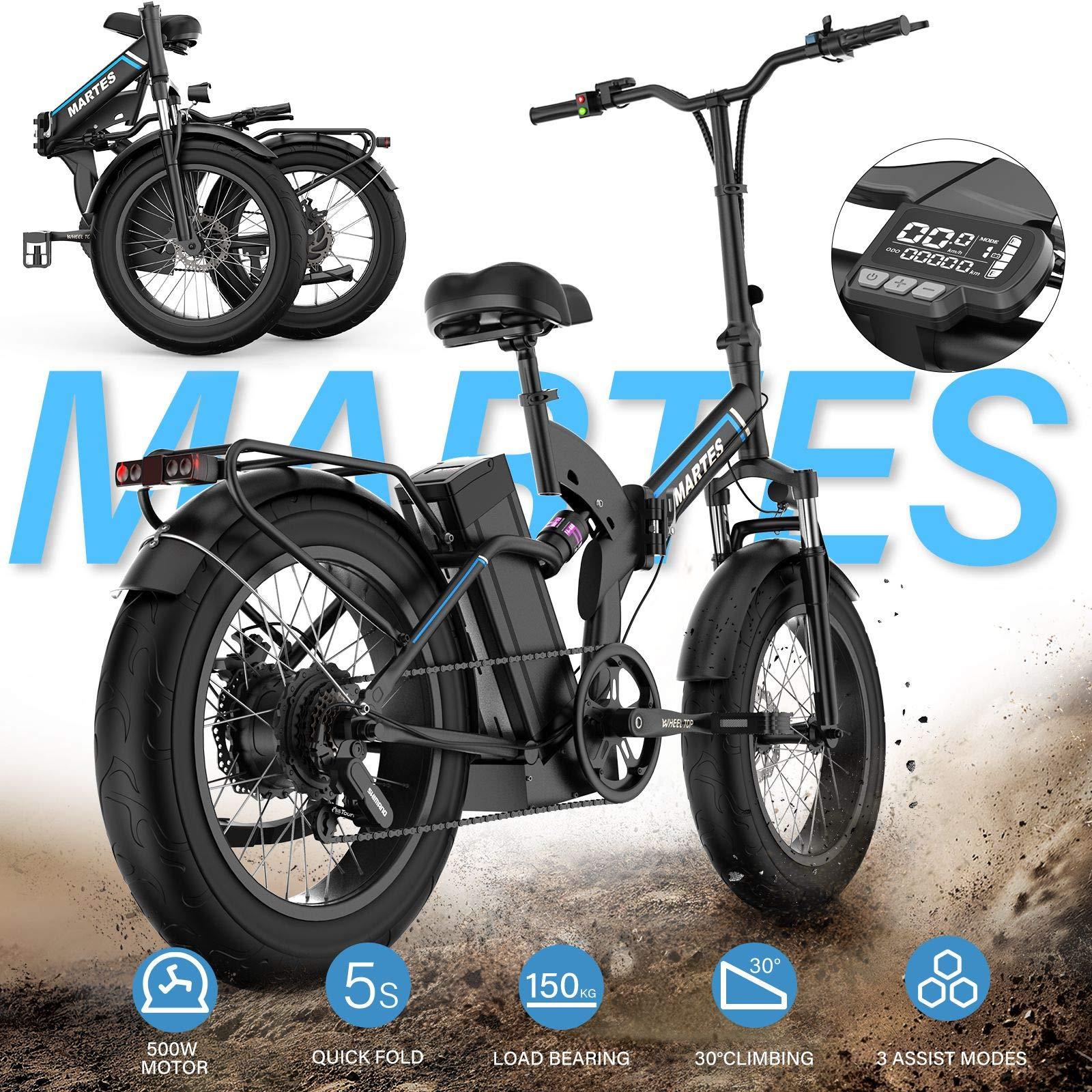 Martes Electric Folding Bike Fat Tire