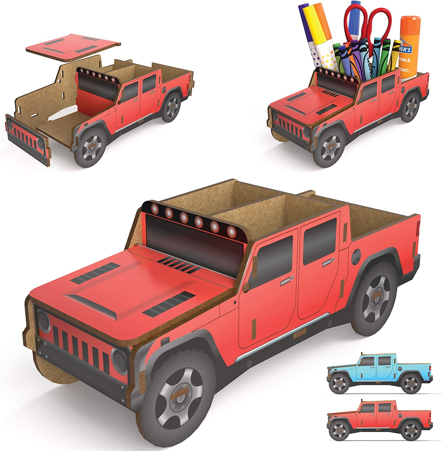 Kid's Desk Organizer Ranking TOP15 - Build Your Recommended Caddy Red H Truck Own Pencil