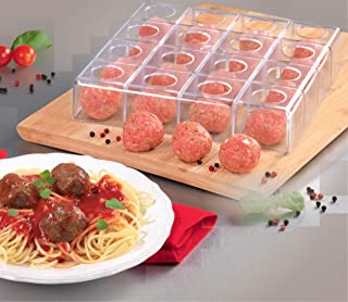 """Mind Reader MMM-CLR Magic Meatball Maker, Makes Perfect Same Size Round and Even Meat Balls, 9"""" x 9"""", Clear"""