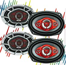 $59 » 4X SoundXtreme ST-694 Systems NX694 Car Speakers - 1040 Watts 2 Pair, 520 Watts Each Pair , 6 x 9 Inch, Full Range, 4 Way,...