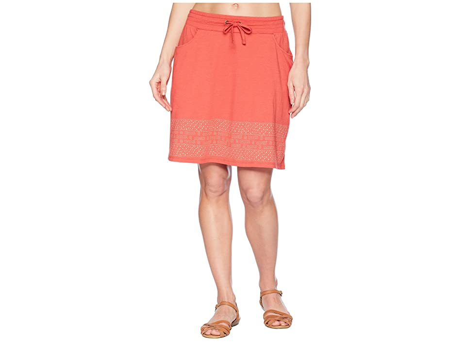 Toad&Co Tica Skirt (Rhubarb Border Print) Women
