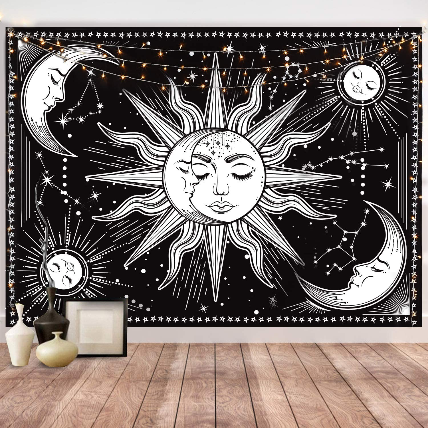 HOTMIR High quality Wall Tapestry Black and Award White - H Aesthetic