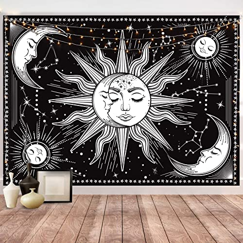 HOTMIR Wall Tapestry - Black Tapestry Wall Hanging Tapestry for Bedroom Aesthetic as Wall Art and Home Decor for Bedr...