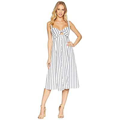 Splendid Tie Front Midi Dress (Off-White) Women