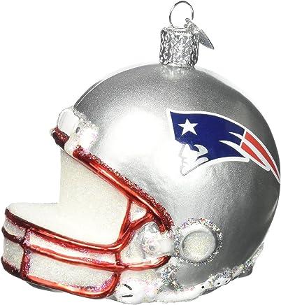 bac35452ef7cf2 Old World Christmas Glass Blow Christmas Ornament New England Patriots  Helmet