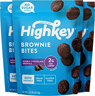 HighKey Snacks Keto Low Carb Food Chocolate Brownie Cookie Bites - Paleo, Diabetic Diet Friendly - Gluten Free, Low Sugar ...
