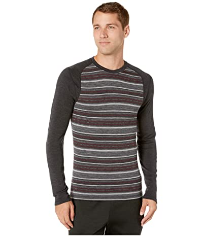 Smartwool NTS Mid 250 Pattern Crew Top (Charcoal Margarita) Men