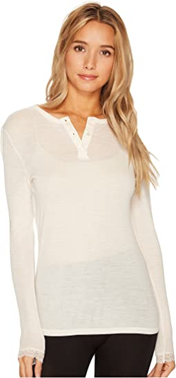 Woolen Lace Long Sleeve Henley