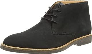 CLARKS Mens Atticus Limit Black Nubuck G Fit Lace Up Desert Boots Size
