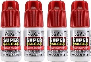 Cala Super Nail Glue Professional Salon Quality | Quick and Strong Nail Liquid Adhesive (4 Bottles)