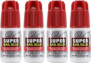 Cala Super Nail Glue Professional Salon Quality   Quick and Strong Nail Liquid Adhesive (4 Bottles)