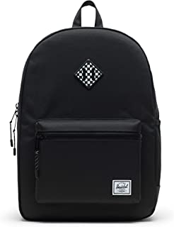 Herschel Heritage Youth X-Large Kid's Backpack, Black/Checkerboard Rubber, One Size