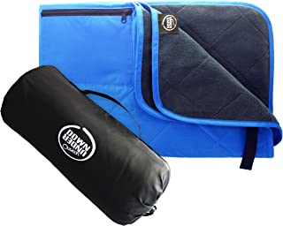 DOWN UNDER OUTDOORS Large Waterproof Windproof Extra Thick Quilted Fleece Stadium..
