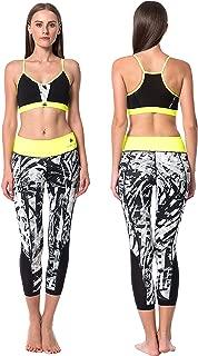 Athena Women's Yoga Wear Set; Sports Bra Capris Shorts Tank Tops; 9 Colors