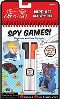 Melissa & Doug On The Go Spy Games Wipe-Off Activity Pad Reusable Travel Toy with 2 Dry-Erase Markers