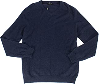 Mens Cashmere Heathered V-Neck Sweater