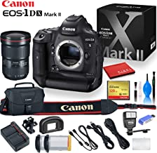 Canon EOS-1D X Mark II DSLR Camera with Canon EF 16-35mm Lens, 128 GB Compact Flash Card, Canon Bag, Digital Flash, Extra Battery, and More