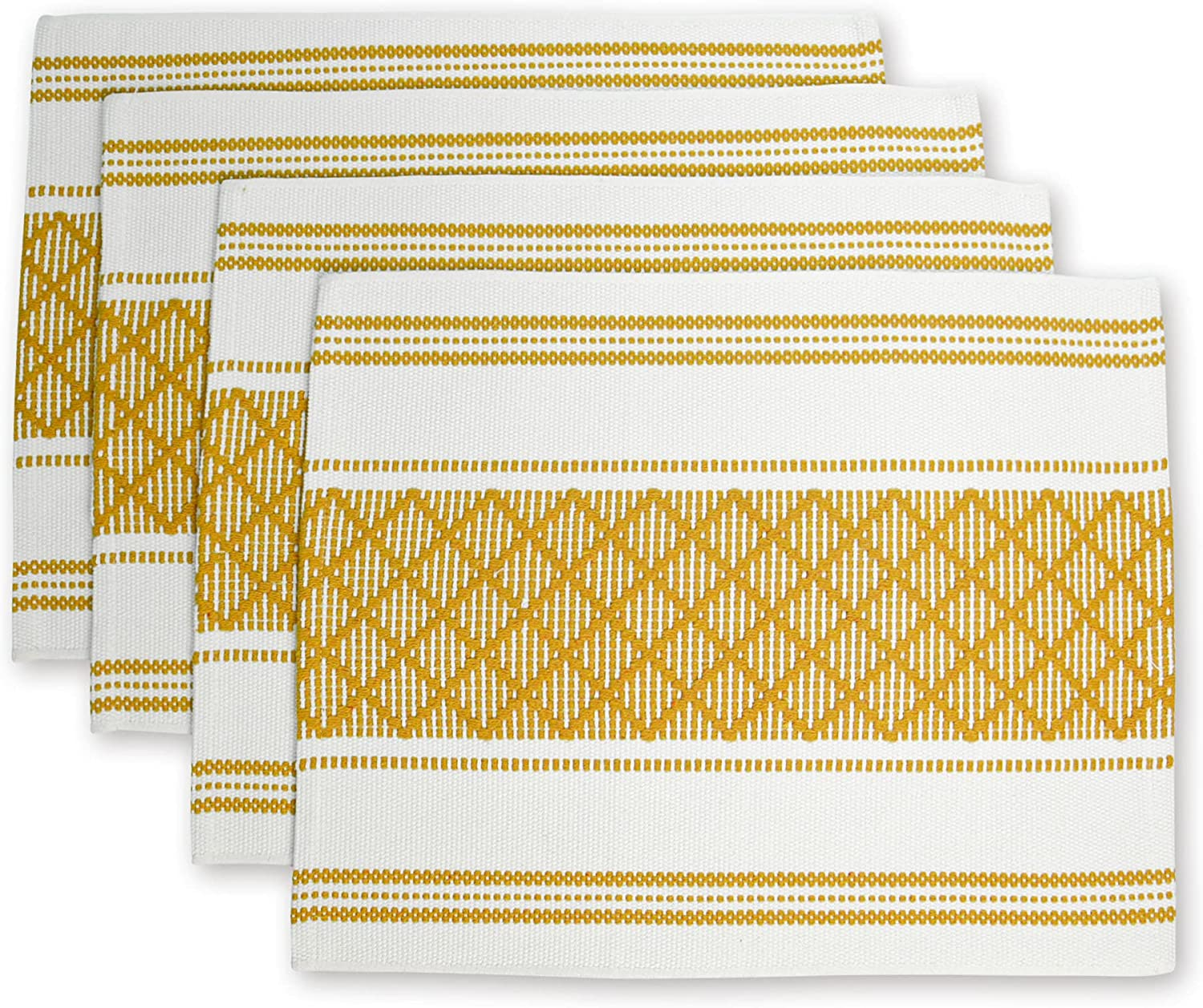 LEVIMETREE Boho Placemats Set of Popular overseas Heat-Resistant Special sale item Placema Woven 4