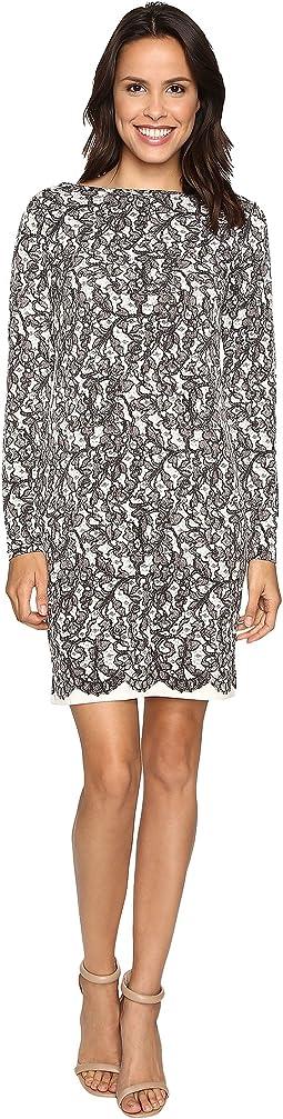 Umbria Lace Border Dress