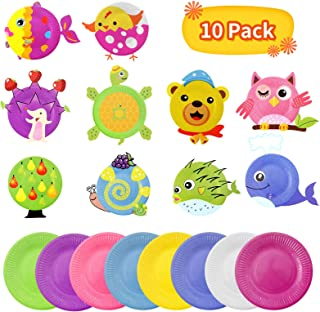 WOKEY Arts and Crafts for Kids, DIY Fashion Paper Plate Art Kits with Animal Stickers,Excellence PerPreschool Educational ...